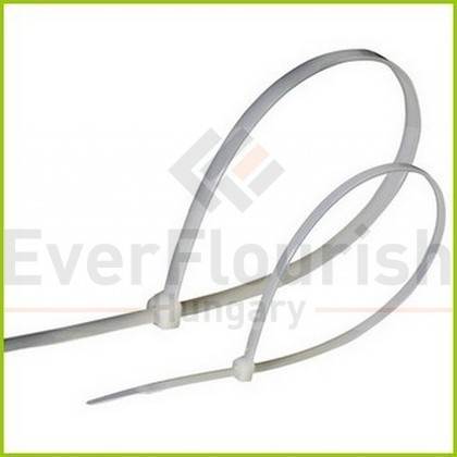 Kábelkötegelő, 300x4.5mm, fehér, 100db 6540H