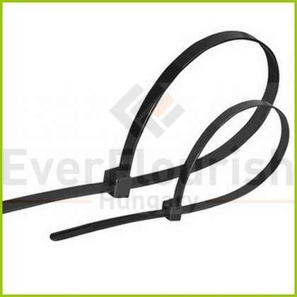 Kábelkötegelő, 200x4.5mm, fekete, 100db 6545H