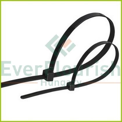 Kábelkötegelő, 380x4.7mm, fekete, 100db 6547H
