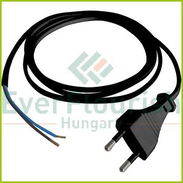 Csatlakozóvezeték euró dugóval, 1.5m fekete 6778H