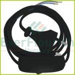 Csatlakozóvezeték euró dugóval, kapcsolóval, 1,5m fekete 6782H