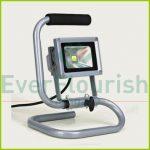 LED fényvető, hordozható, 10W, 1,4m, ezüst, 68614