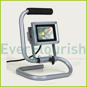 LED fényvető hordozható, 10W, 1,4m, ezüst, 68614