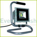 LED fényvető, hordozható, 20W, 1,4m, ezüst 68615