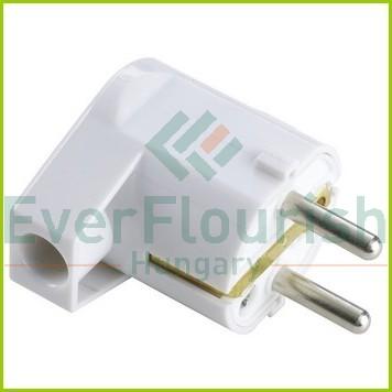 Földelt lengő dugó (műanyag) oldalsó kivezetéses, fehér 6906H