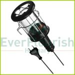 Hand lamp with steel protective basket, E27, max.:60W, 5m, black, IP20 6912H