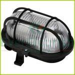 Oval lamp with plastic protective basket, 230V, black 6914H
