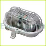 Oval lamp with plastic protective basket, 230V, white 6915H