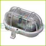 Hajólámpa, ovális, műanyagráccsal 60W, fehér 6915H