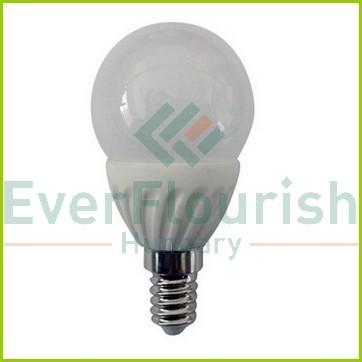 LED fényforrás, E14, gömb, P45, 7.0W 7075H