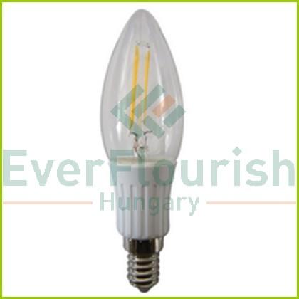 LED fényforrás, E14, gyertya, C37, 2.0W wolfram szál utánzatú, 7088H