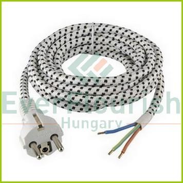 Csatlakozóvezeték földelt dugóval, vasalóhoz, 3m, 3x0.75 71303
