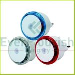 Night light LED, with twilight detector 0.8W, 3pcs, red/blue/transparent 7312H