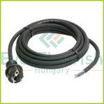 Csatlakozóvezeték földelt dugóval, 3m, 3x1.5, fekete, H05RR-F 77133