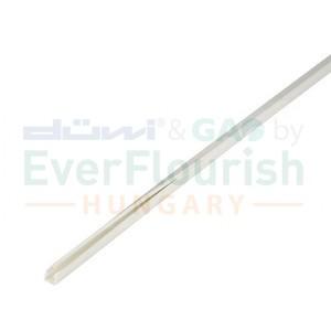 Plastic cable duct, mini, 10 x 10 mm, 2 m, white 79719