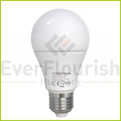 L2H Pro E27 9W 800lm okos izzó normal 2700-6500K + RGB 8012H