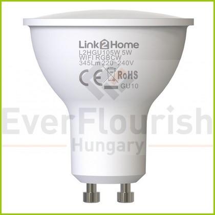 L2H Pro GU10 4.5W 345lm okos izzó 2700-6500K + RGB 8013H