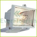 Halogen floodlight, 120W, IP44, black 8110H