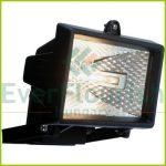 Halogén fényvető, max. 120W R7s, fekete, IP44 8111H
