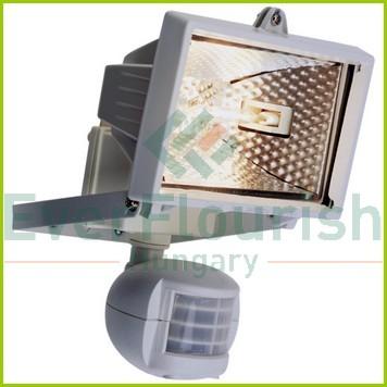 Halogen floodlight with motion detector, 120W, IP44, black 8116H