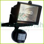 Halogen floodlight with motion detector, 120W, IP44, white 8117H