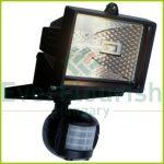 Halogén fényvető, mozgásérzékelővel, 120W, fekete, IP44 8117H