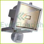 Halogén fényvető, mozgásérzékelővel, 400W, fehér, IP44 8119H