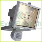 Halogen floodlight with motion detector, 400W, IP44, black 8119H