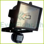 Halogen floodlight with motion detector, 400W, IP44, white 8120H
