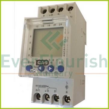 Időkapcsoló, digitális, heti, DIN sínre 2 modulos , 2 csatornás 8138H