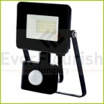 "LED floodlight ""EcoSpot"" 20W with motion detector 1400lm, black, IP44 8178H"