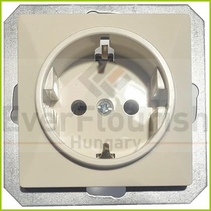 "OPAL single socket 2p+z ""schuko"" without frame, beige 8724H"