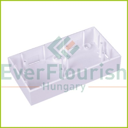 OPAL falonkívüli beépítő doboz dupla fehér 8735H