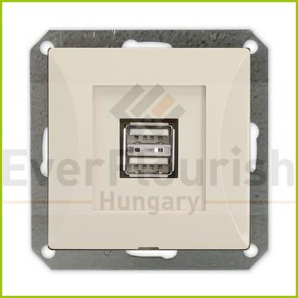 OPAL dupla USB aljzat keret nélkül, bézs 8750H