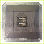 OPAL dupla USB aljzat keret nélkül, grafit 8761H