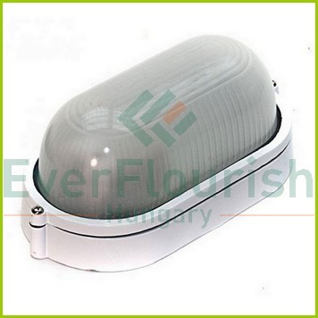 Hajólámpa, ovális, alumínium, fehér 90052