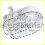 LED Oval lamp with steel protective basket, 5W 4000K, IP44, white 911170