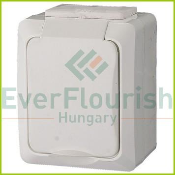 IT WATER csapófedeles dugalj gyv., falon kívüli, fehér, IP54 9853H