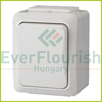 IT WATER váltókapcsoló, falon kívüli, fehér, IP54 9855H